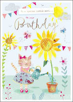 Zinnia Infant Birthday Sunflower