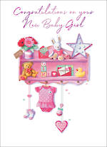 Baby Card Girl Pink Knick Knacks