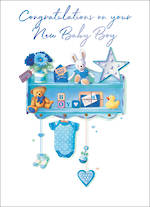 Baby Card Boy Blue Knick Knacks