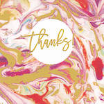 Thank You Card Paper Gallery Square Marble