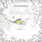 Wedding Card Filigree Square Day Silver