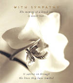 Sympathy Card Love Unlimited Black and White