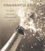Congratulations Card: Love Unlimited Champagne
