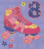 Age Card 8 Girl Pigment Rollerskate