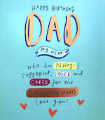Dad Birthday Card Happy News Large