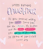 Daughter Birthday Card: Happy News Large
