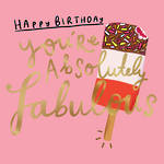 Happy News Square Birthday Fabulous