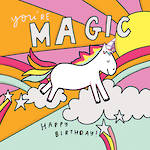 Happy News Square Birthday Magic