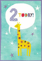 Birthday Age Card 2 Boy Young Ones