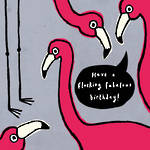 Hello There Birthday Flamingoes
