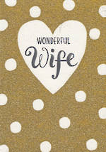 Wife Birthday Card Bijou Wonderful