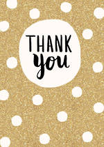 Thank You Card Bijou Gold Spots