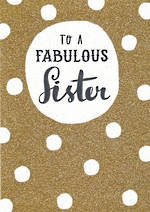 Sister Birthday Card Bijou To A Fabulous