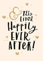 Wedding Card Bijou Happily Ever After