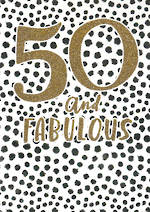 Birthday Age Card 50 Female Bijou Fabulous