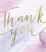 Thank You Card Bianco Nero Large