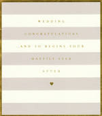 Wedding Card By Appointment Stripes