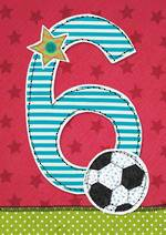 Age Card 6 Boy Fabrics Football