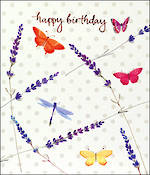 Delphine Birthday Lavender Butterfly