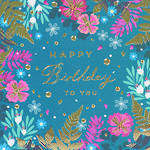 Emerald Birthday Floral Border