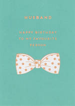 Husband Birthday Card Apollo Bow