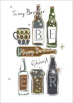 Brother Birthday Card Amaretto Cheers