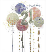 Age Card 21 Female Amaretto Balloons