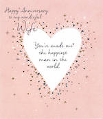 Anniversary Card Amaretto Wife Heart