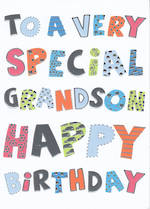 Grandson Birthday Card Bangers & Flash Special