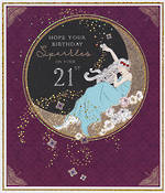 Birthday Age Card 21 Female Florence