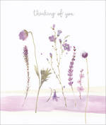 Sympathy Card Thinking of You Flourish