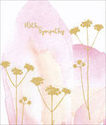 Sympathy Card Flourish Watercolour