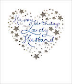 Husband Birthday Card Mimosa Stars