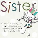 Sister Birthday Card: Tinklers Slightly Mad