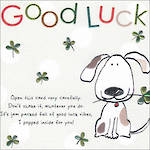 Good Luck Card Tinklers Dog