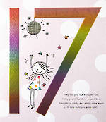Age Card 17 Female Birthday Tinklers Rainbow Foil