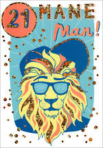 Birthday Age Card 21 Male Wanderlust