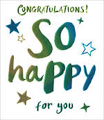Congratulations Card Wow So Happy