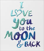 Anniversary Card Husband Wow Moon & Back