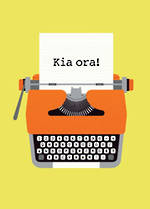 Pure NZ Greg Straight Kia Ora Typewriter