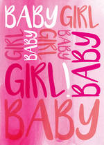 Baby Card Girl Pink Text