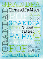 Grandad Birthday Card Grandpa Grandfather Pop