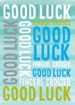 Good Luck Card Typography