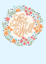 Get Well Card Floral Wreath