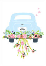 Wedding Card Car Just Married