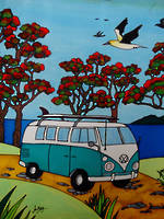 Pure NZ Jo May Kombi On Beach