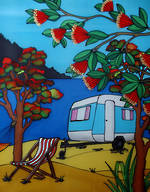 Pure NZ Jo May Caravan On Beach
