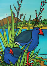Mini Card Pukeko Scene