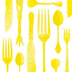 Napkins: Paper Products - Lunch Tableware Emboss Hot Yelow