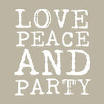 Napkins: Paper Products - Lunch Love & Party Taupe